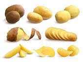 potato set realistic