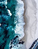 Drone shot of waves