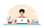 Home work concept on isolated background