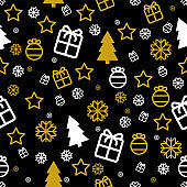 Christmas seamless pattern Vector wrapping paper template