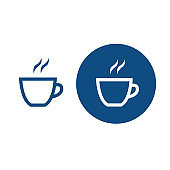 Cup of hot drink icons.