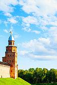 Veliky Novgorod Kremlin - Kokui tower in summer day in Veliky Novgorod, Russia