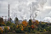 Industrial landscape. Volkhov. Russia