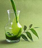 Medicinal Neem juice and leaves