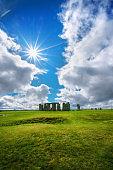 Salisbury, England 18 apr 2017 Stonehenge an ancient prehistoric stone monument near Salisbury, Wiltshire, UK. in England