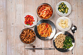 Korean pickle and seasoning Spicy Kimchi Korean traditional food, Kimchi salad made with vegetable cabbage and  chili pepper