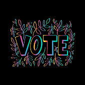 Hand Lettered vote