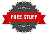free stuff label. free stuff isolated seal. sticker. sign