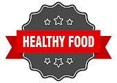 healthy food label. healthy food isolated seal. sticker. sign