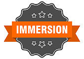 immersion label. immersion isolated seal. sticker. sign
