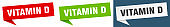 vitamin d banner sign. vitamin d speech bubble label set