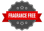 fragrance free label. fragrance free isolated seal. sticker. sign