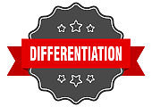 differentiation label. differentiation isolated seal. sticker. sign
