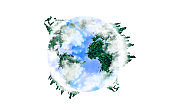 Planet Earth with continents from green grass. Eco-friendly concept. Isolated on white background. Environment protection.