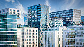 Oslo Modern Architecture Urban Skyline Panorama Norway
