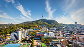 Seoul Panorama Aerial View N Seoul Tower and Seoul Cityscape