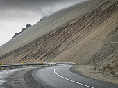 East Iceland Fjords Empty Coastal Winding Road