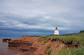 Cape Egmont Lighthouse along the coast of Prince Edward Island, Canada