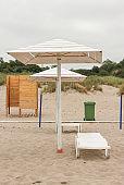 Empty beaches during the coronavirus pandemic.