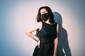covid-19 fashion diy accessory female model mask