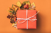 holiday present congratulations gift box autumn