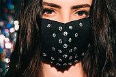 pandemic beauty festive accessory woman face mask