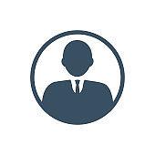 Businessman consultant icon