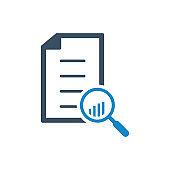 Analytics magnifier icon