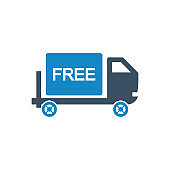 Cargo free delivery icon