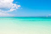 Seascape on idyllic sunny day, antigua