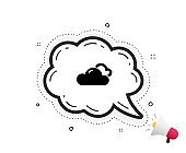 Cloudy weather icon. Clouds sign. Sky. Vector