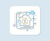 Currency exchange line icon. Money Transfer. Vector