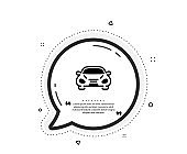 Car transport icon. Transportation vehicle sign. Vector