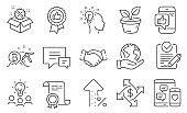 Set of Business icons, such as Sale, Idea, Increasing percent. Vector