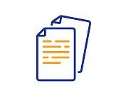 Documents line icon. Doc file page sign. Vector