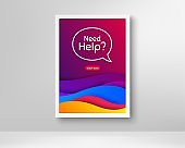 Need help symbol. Support service sign. Vector