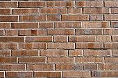 Wall made of brown bricks