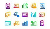 Graph icons. Charts and graphs, Presentation and Report. Classic icon set. Vector