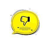 Dislike hand icon. Thumbs down finger sign. Vector
