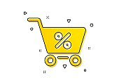 Shopping cart icon. Online buying sign. Vector