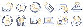 Set of Technology icons, such as E-mail, Engineering documentation, Usb flash. Vector