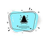 Christmas tree present icon. New year spruce sign. Vector