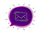 Messenger Mail line icon. New newsletter sign. Vector