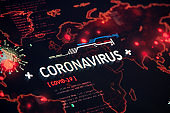 Coronavirus Pandemic on a World Map