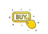Click to Buy icon. Online Shopping sign. Vector