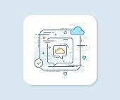 Cloud computing communication line icon. Internet data storage sign. Vector