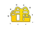 Gift boxes icon. Present sign. Vector