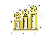Graph icon. Column chart sign. Vector
