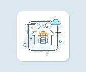 Internet documents line icon. Doc file page sign. Vector