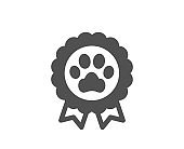 Dog competition icon. Pets award sign. Vector